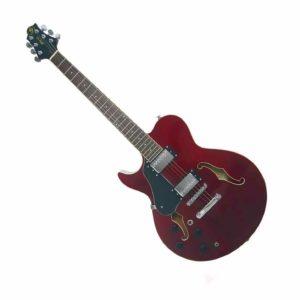 Гитара полуакустическая GregBennett RL2LH/TR — левосторонняя 22л. 24 3/4″, HH, 2V+2T. цвет-красный прозрачный, Артикул: 441392