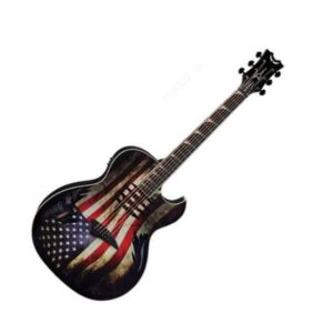 Электроакустическая гитара Dean MAKO GLORY — 25 1/4,EQ, тюнер, графика «американский флаг», Артикул: 446116