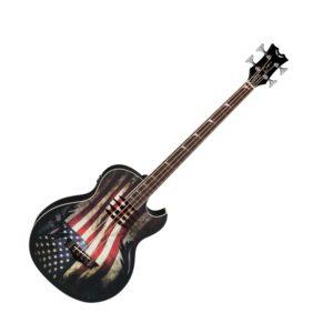 Электроакустическая гитара Dean MAKOB GLORY — 34″, EQ, тюнер, графика «американский флаг», Артикул: 446874