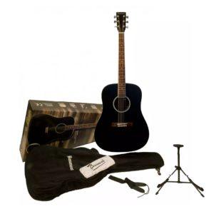 Гитара акустическая Beaumont DG80K/BK — цвет-чёрный, в наборе чехол, подставка, струны, Артикул: 449338