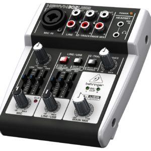 Behringer 302USB - 5-вход. микшерный пульт, с микрофонными предусилит. XENYX, USB/аудио интерфейсом, артикул 443585
