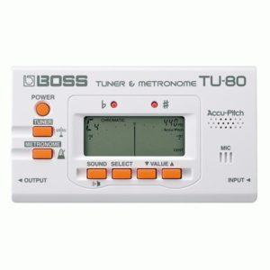Boss TU80WH - Хроматический тюнер с метрономом (БЕЛЫЙ), артикул 99311
