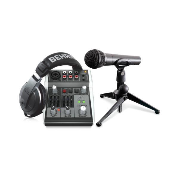 Behringer PODCASTUDIO 2 USB - комплект для домашней звукозаписи и подкастинга. Артикул 453701