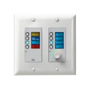 BSS BSS EC-8BV-WHT-EU - панельный контроллер с 8 кнопками и регулятором уровня