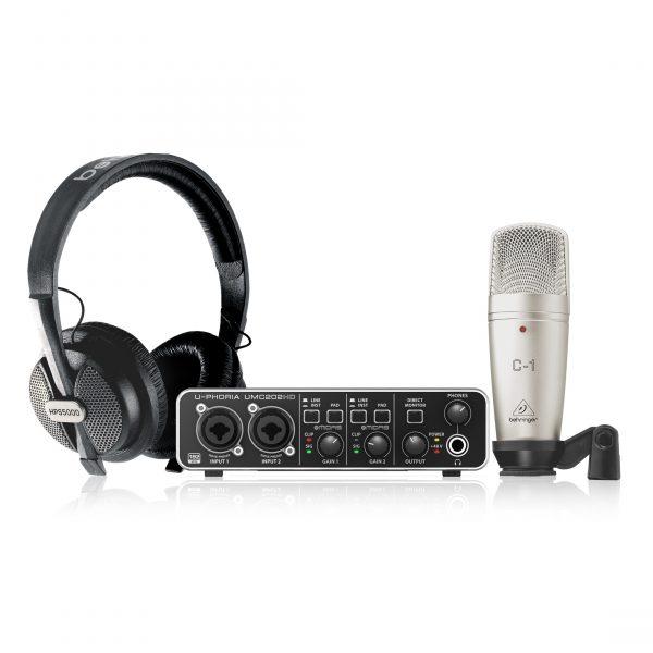 BEHRINGER U-PHORIA STUDIO PRO - комплект для записи с USB аудиоинтерфейсом