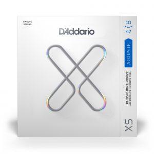 D'ADDARIO XSAPB1047-12 - струны с покрытием для 12-струнной гитары